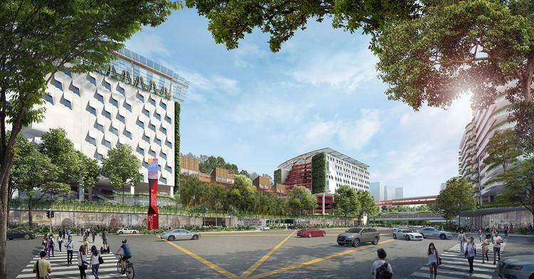 WOHA projeta campus tecnológico em meio à floresta na Singapura, Cortesia de WOHA