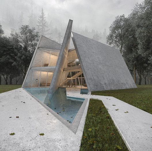 Iranian Project Manipulates Geometric Slabs for Privacy in Forest Villa