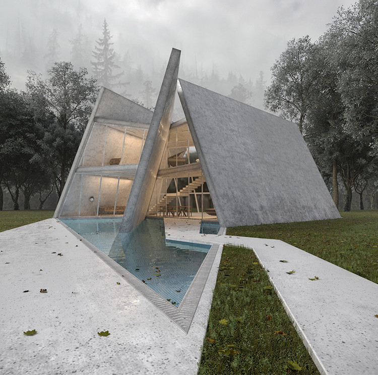 Iranian Project Manipulates Geometric Slabs for Privacy in Forest Villa , © Mado Architects
