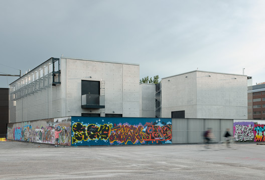 Kalasatama Electricity Substation and Suvilahti Graffiti Fence / Virkkunen & Co Architects