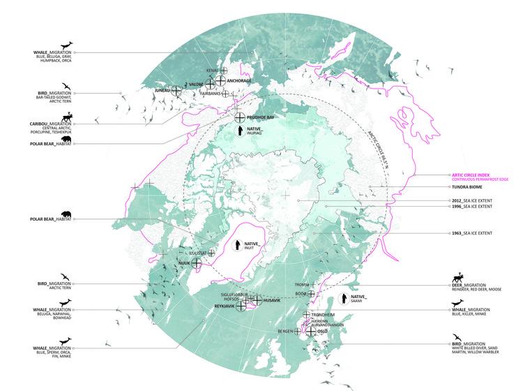 "CALL FOR ENTRIES: 2019 Stewardson Keefe LeBrun Travel Grant, Image Courtesy 2018 Stewardson Keefe Lebrun Recipient Amanda Aman, AIA, LEED AP BD+C (Dallas, TX)  – ""Fragile Fields of the Arctic Circle Periphery"""