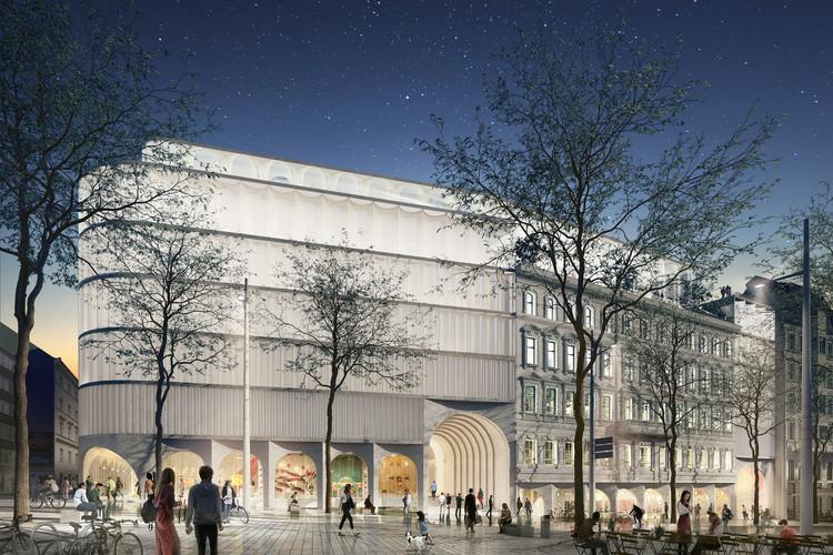 OMA gana concurso para crear el nuevo centro comercial de KaDeWe en Viena, Cortesía de OMA