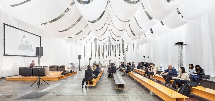 Espacio efímero BBConstrumat 2019 / Josep Ferrando Architecture, © Adrià Goula