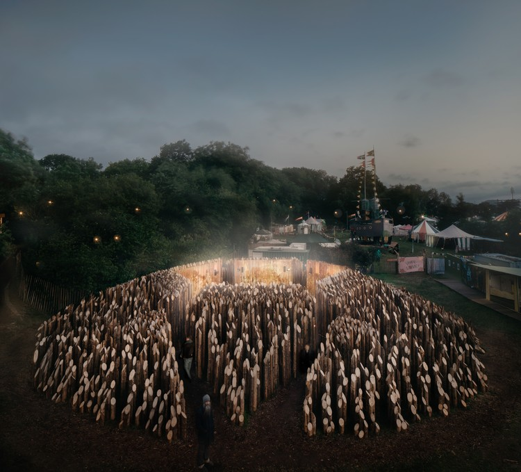 BEAM Pavilion / Wolfgang Buttress, © Mark Hadden
