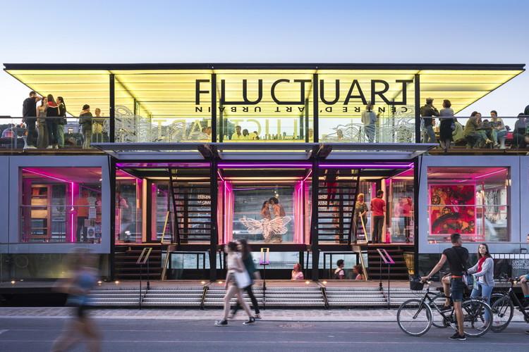 Fluctuart Art Gallery / Seine Design, © Sergio Grazia