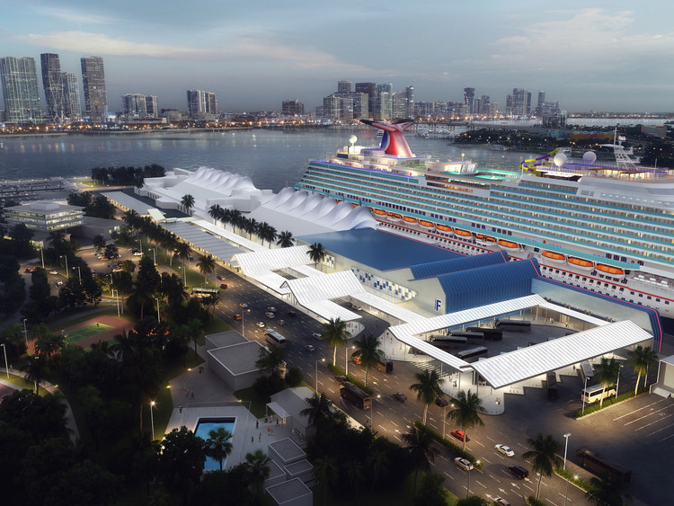 Berenblum Busch Designs Cruise Terminal for Seaport in Miami, © Berenblum Busch Architects
