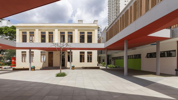 Demolir ou recuperar? 20 projetos de remodelação no Brasil, Escola Internacional Red House / COMANOST + Studio dLux. © Leo Giantomasi
