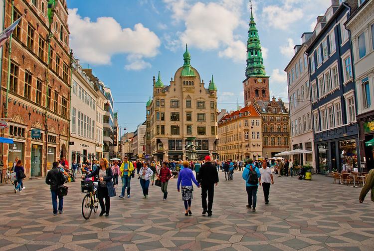 5 Cidades que são exemplos de caminhabilidade, Área exclusiva para pedestres em Copenhague. Foto: City Clock Magazine/Flickr