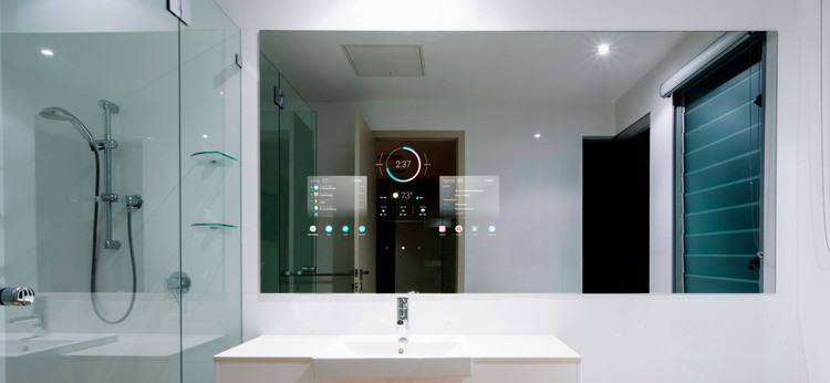 What Will Bathrooms Look Like in the Future?, Seura SMART Mirror. Image Courtesy of Seura