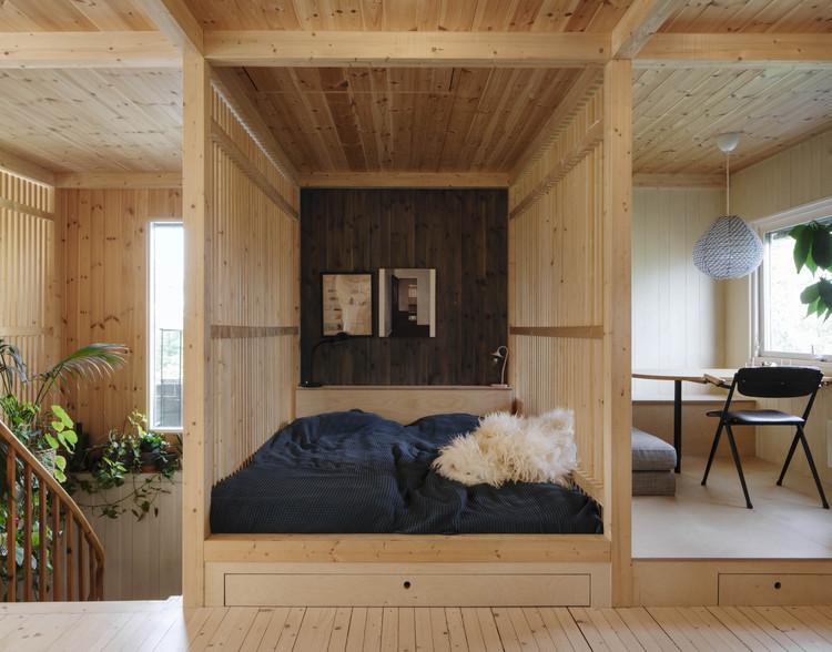 Wood Slat Shotgun House / Austigard Arkitektur, © Ivan Brodey