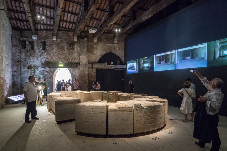 Ministerio de las Culturas, las Artes y el Patrimonio abre el concurso de ideas para el Pabellón de Chile en la 17ª Bienal de Arquitectura de Venecia 2020, 'Stadium', Pabellón de Chile en la Bienal de Arquitectura de Venecia 2018. Imagen © Laurian Ghinitoiu