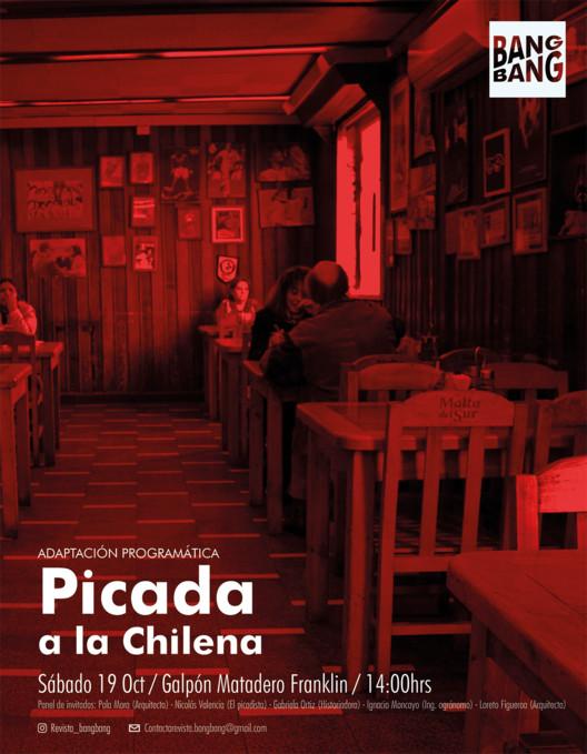 """Conservatorio """"Adaptaciones Programáticas: Picadas a la Chilena"""" en XXI Bienal de Arquitectura de Chile, Fotógrafo Matias Olate, Diseño gráfico Juan Valdés Seguel"""
