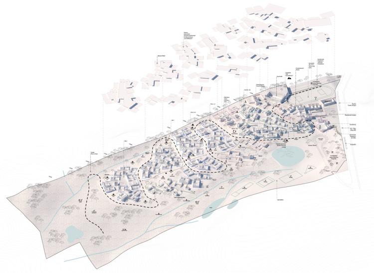 PPAG architects diseña escuela que forma un camino sobre pendiente de ladera en Cuenca, Ecuador, © PPAG architects