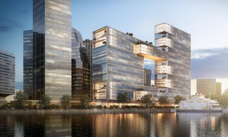 SOM diseña edificio de oficinas en Buenos Aires con terrazas, puentes y parques elevados, © SOM | Ekoomedia