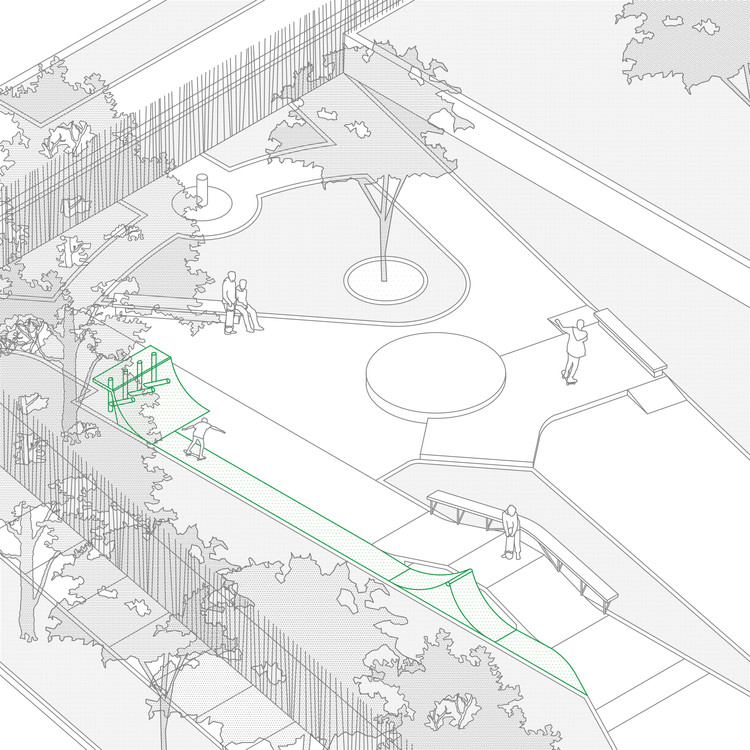 Cómo diseñar y construir un skatepark para reactivar el espacio público, Cortesía de Sebastian Castro Aedo