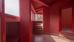 Red Note House on the Horizon / LI WENXI Architects