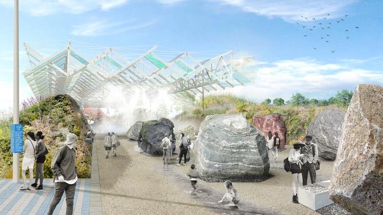 Ecosistema Urbano desarrolla proyecto paisajístico en universidad que vincula interacción digital y confort bioclimático, © Ecosistema Urbano