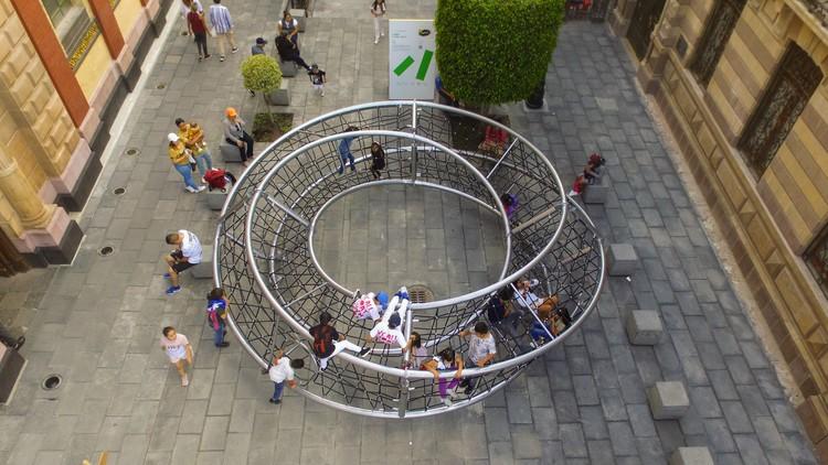 Ariel Rojo projeta instalação urbana lúdica para o Abierto Mexicano de Diseño 2019, © Daniel Fernández