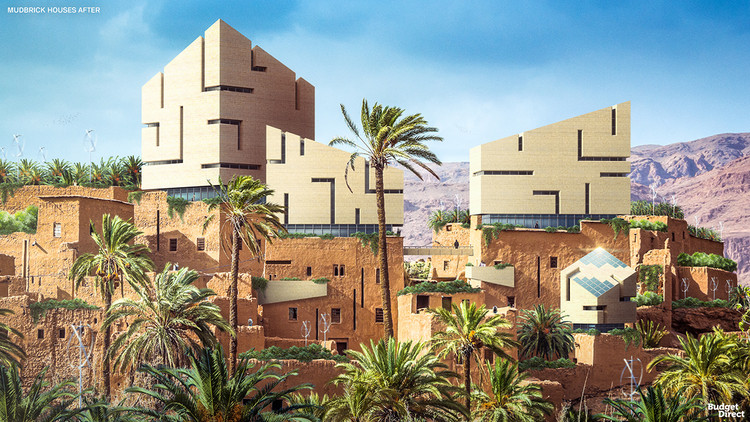 Can Renders Help you Understand the Future of Old Buildings?, Mudbrick houses renovated (Ancient Egypt) / After. Image © Budget Direct