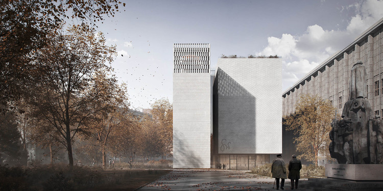 Heinle Wischer and Partner Design a New Art Museum in Krakow, Poland, Courtesy of Heinle, Wische und Partner