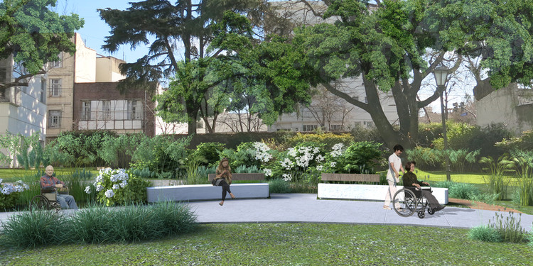 Conoce los ganadores del concurso Idea Raiz para los jardines del Hospital Británico en Buenos Aires, Cortesía de Silvia Batlle, Geraldine Ladino, Eduardo Ottaviani
