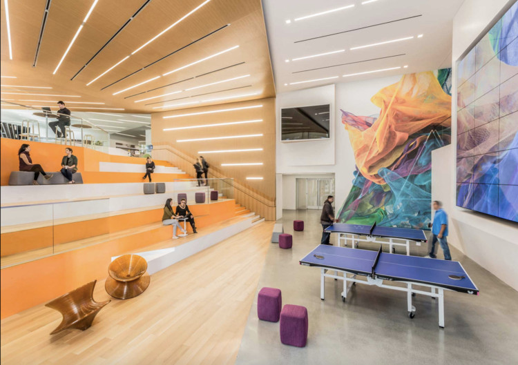 GENSLER Principal Lukasz Platkowski: the World of Work is Undergoing a Tectonic Shift, Adobe Campus Renovation, California. Image Courtesy of GENSLER