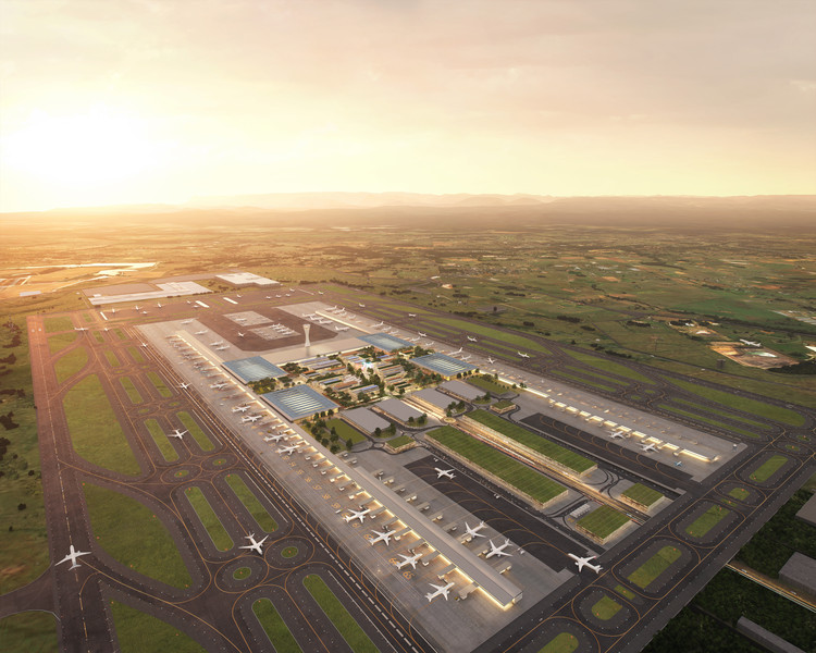 ZHA/COX Team Wins Western Sydney Airport Competition, © Pixelflakes, courtesy of Zaha Hadid Architects
