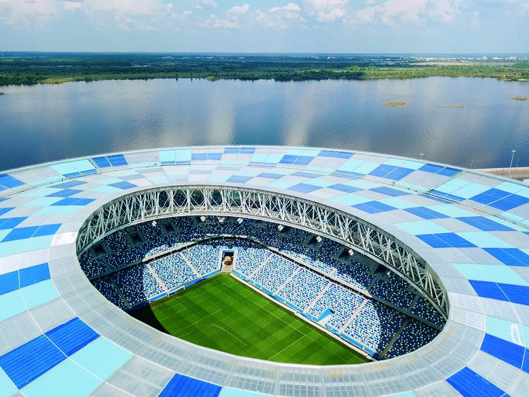 """Estadio de fútbol Nizhny Novgorod / PI ARENA, © JSC """"Stroytransgaz"""""""