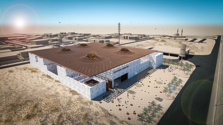 Despacho mexicano AIDIA STUDIO gana concurso para diseñar el Museo de Arte Árabe Moderno en Sharjah, EAU, © AIDIA STUDIO