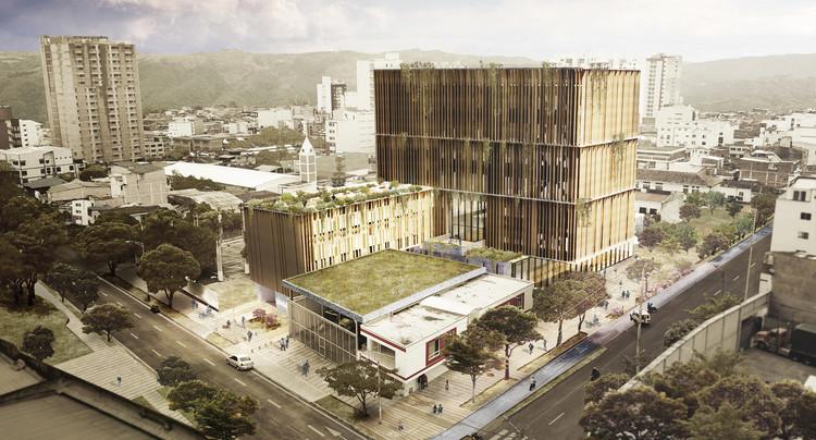 Hospital como espacio público: una propuesta para el concurso de la nueva unidad UIMIST en Bucaramanga, Cortesía de ems arquitectos + Pantoja Arquitectos + Alcuadrado arquitectura