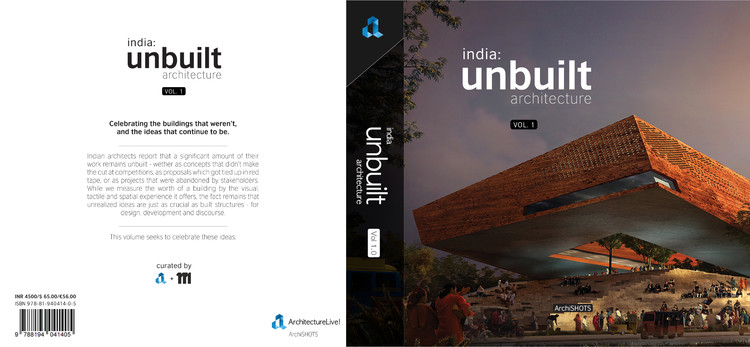 india: unbuilt architecture, Book Cover (subject to change)