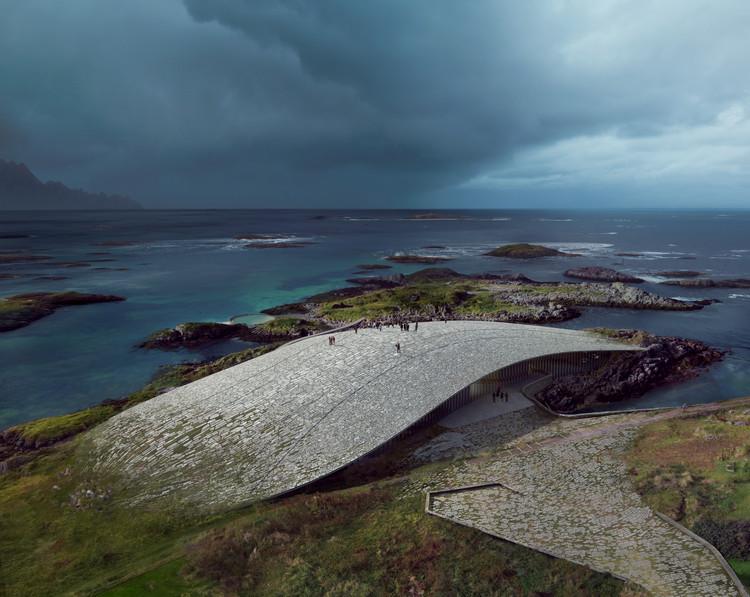 Dorte Mandrup vence concurso para edifício cultural e observatório de baleias na Noruega, © MIR