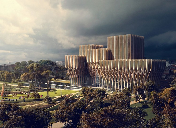 Beyond Angkor Wat: Cambodia's New Cultural Architecture, Courtesy of Zaha Hadid Architects