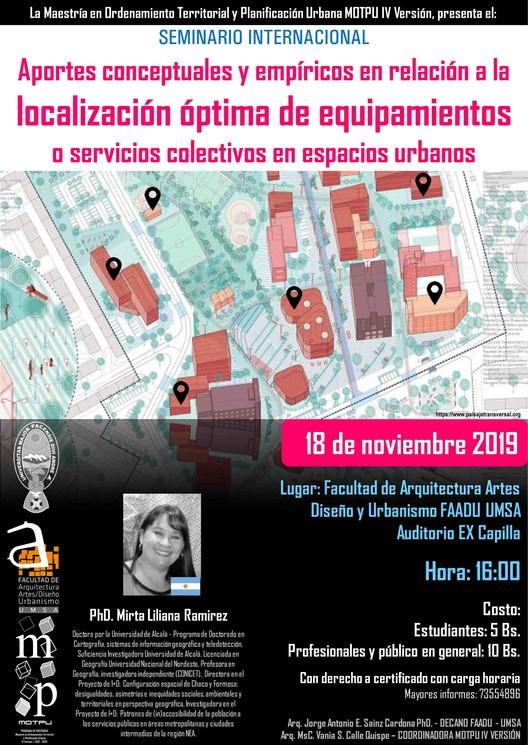 Seminario: Aportes conceptuales y empíricos en relación a la localización óptima de equipamientos o servicios colectivos en espacios urbanos, MOTPU en base a https://www.paisajetransversal.org