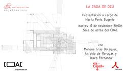 Presentación del libro 'La Casa de Ozu' de la arquitecta Marta Peris