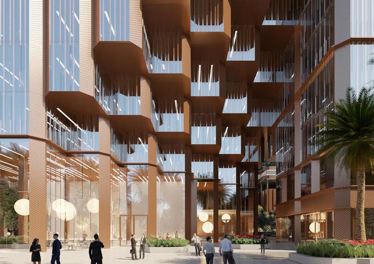 Mecanoo divulga edifício de uso misto inspirado nas cidades históricas da China, Konka Uso Misto. Imagem Cortesia de Mecanoo
