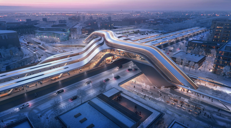 ZHA & Esplan Win Competition to Design the New Terminal for Rail Baltica, © negativ.com, courtesy of Zaha Hadid Architects