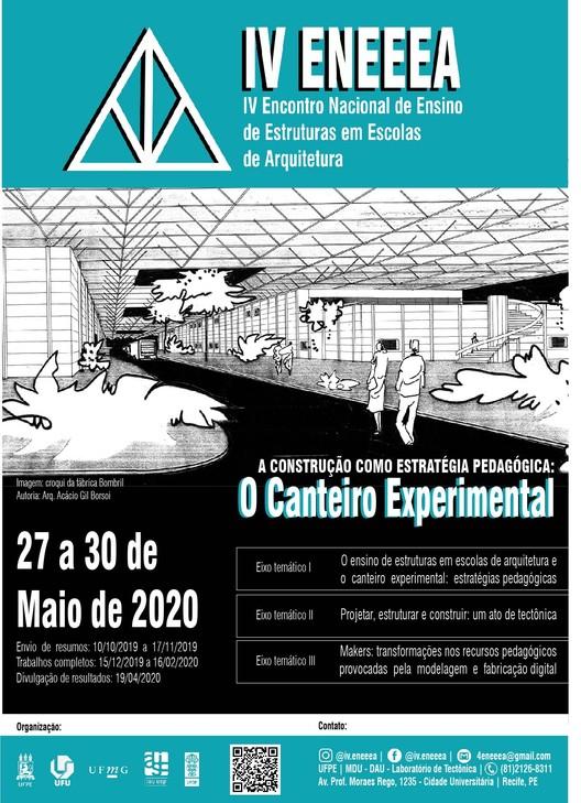 IV Encontro Nacional de Ensino de Estruturas em Escolas de Arquitetura, Cartaz de Divulgação do IV ENEEEA