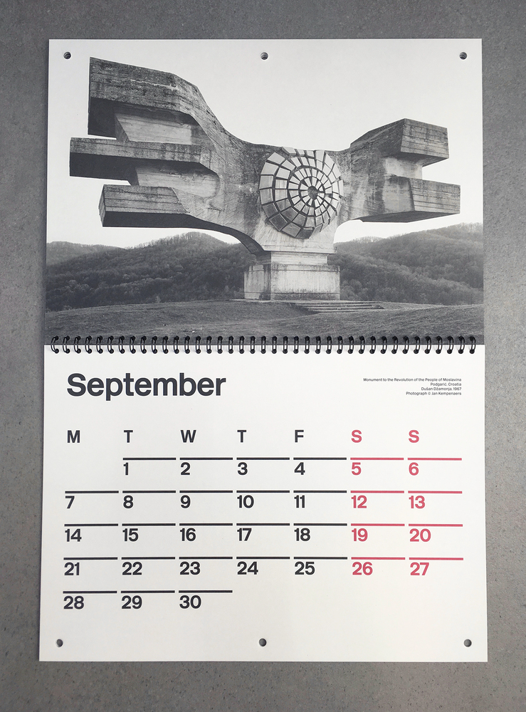 Uri Fall 2020 Schedule.Gallery Of Brutalist Calendar 2020 3