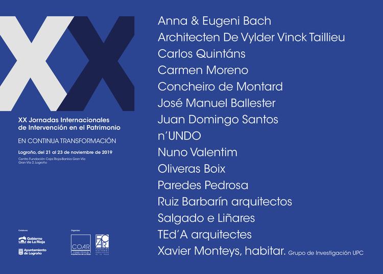 XX Jornadas Internacionales de Intervención en el Patrimonio, XX Jornadas Internacionales de Intervención en el Patrimonio