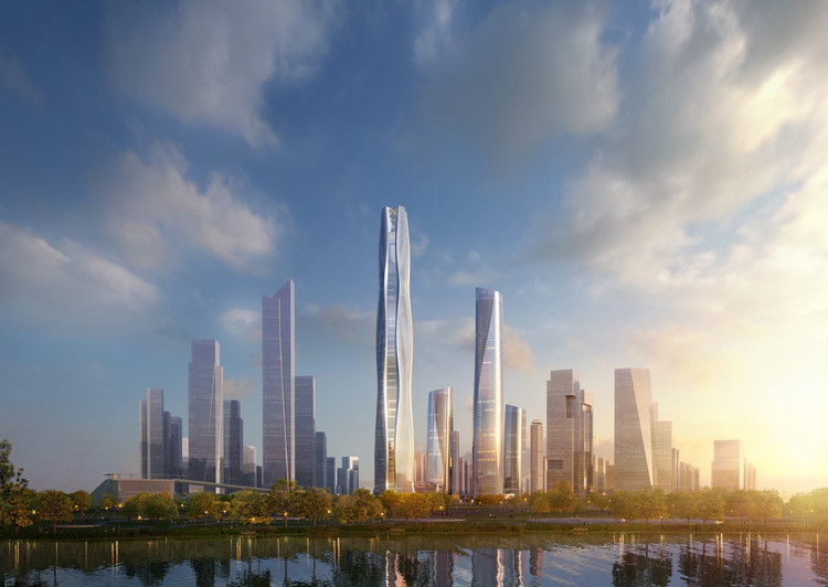 AS+GG divulga projeto de novo distrito financeiro na China , Cortesia de ADRIAN SMITH + GORDON GILL ARCHITECTURE