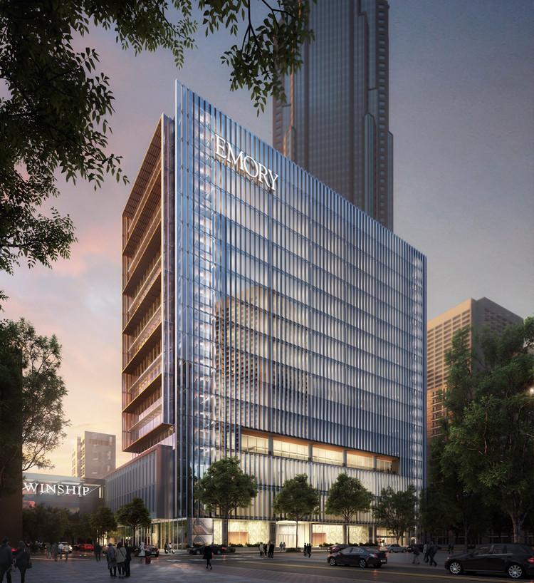 SOM + May Architecture projetam instalações para tratamento de câncer em Atlanta, © SOM