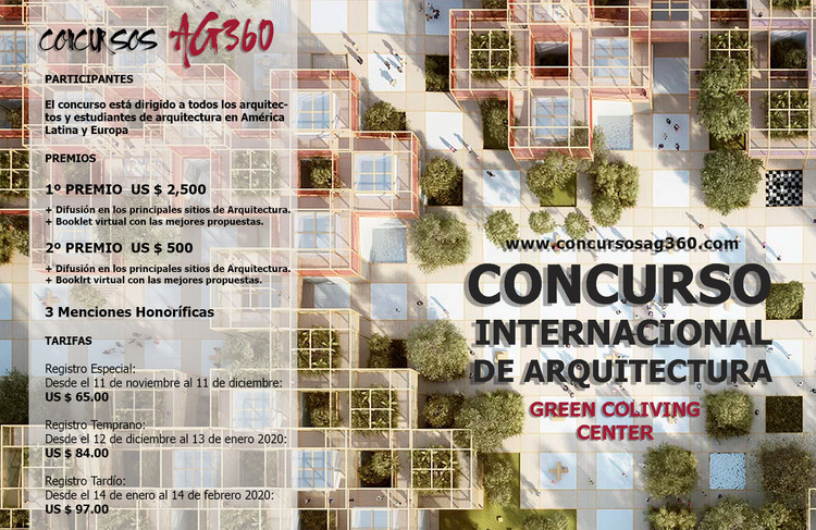 Convocatoria Concurso de Ideas: Green Coliving Center, Concursos AG360