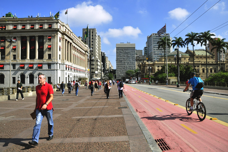 Como o desenho das ruas de São Paulo influencia nos acidentes de trânsito, Centro de São Paulo. Foto: Mariana Gil/EMBARQ Brasil