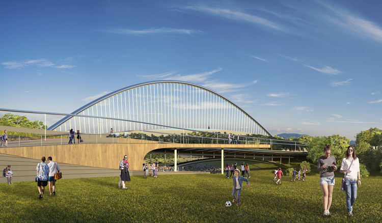 EArquitetos recebe menção com proposta de ponte sobre o Rio Vrbas, na Bósnia e Herzegovina, Cortesia de EArquitetos