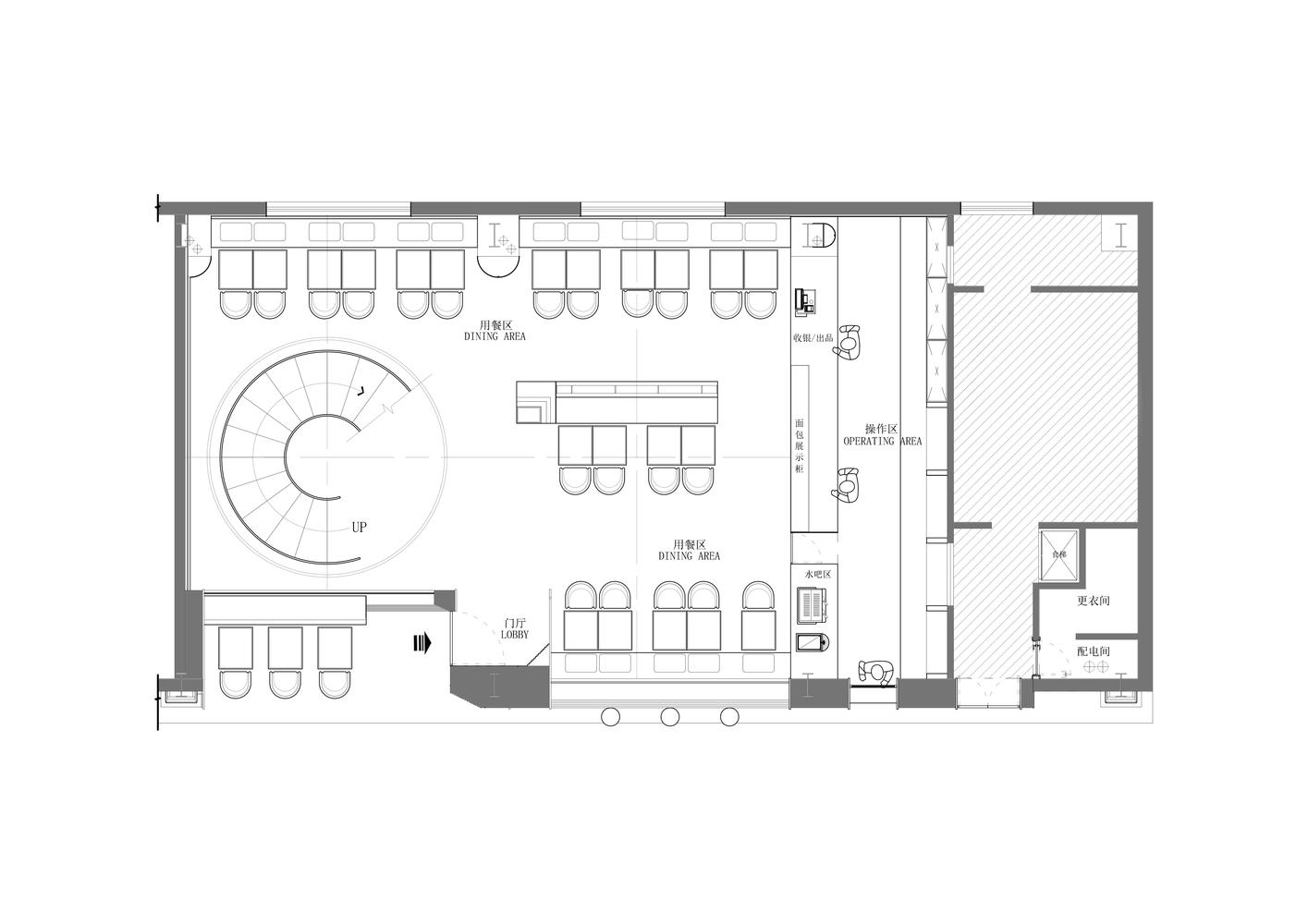 design restaurant plan - Zeppe