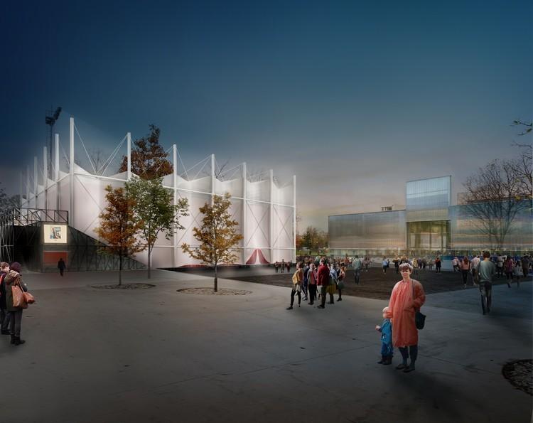 SNKH Studio vence concurso para projetar o cinema de verão do Garage Museum de Moscou, Cortesia de SNKH Studio