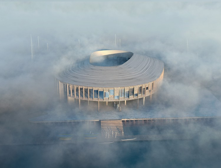 WERK + Snøhetta Win Competition to Design a New Maritime Center in Denmark, Lantern- WERK, Snøhetta and Oluf Jørgensen A / S. Image Courtesy of MIR