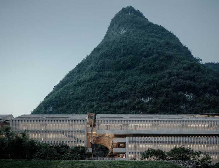 Alila Yangshuo Hotel / Vector Architects, North Facade of Main Building. Image © Shengliang Su