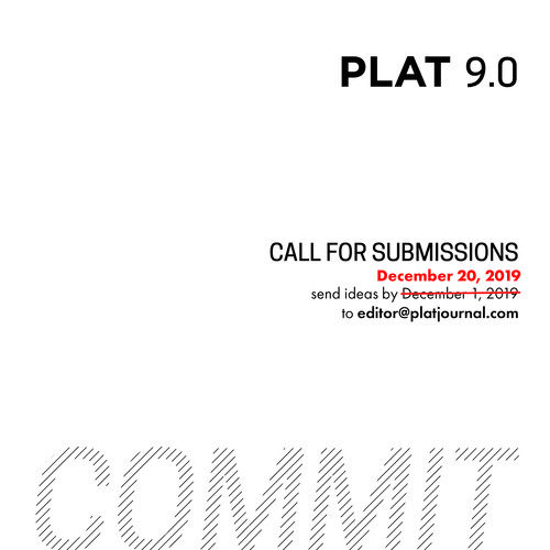 PLAT Journal 9.0 Call for Submissions